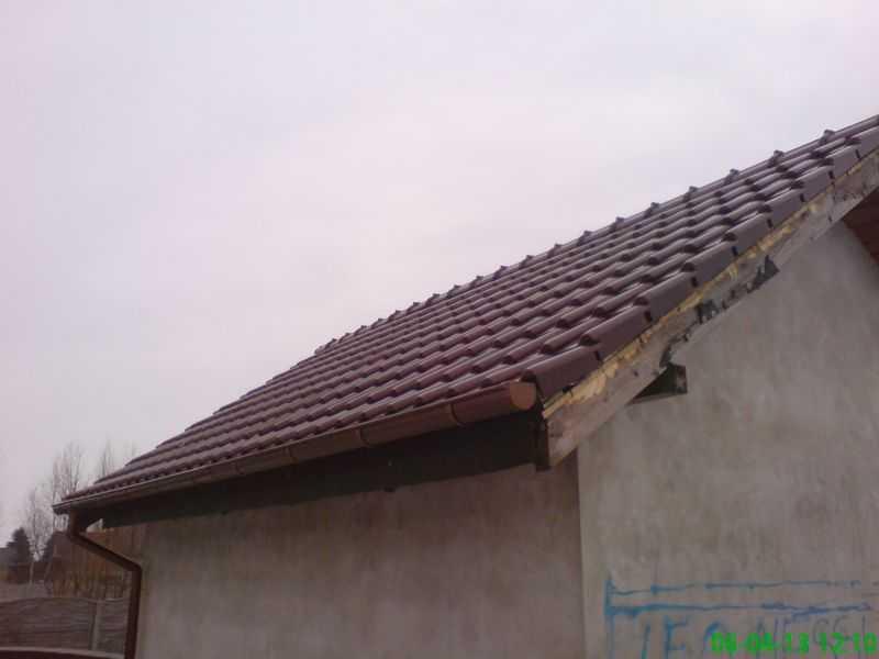 Dach dwuspadowy w dachówce ceramicznej Bogen Innovo 12 Rubin angoba szlachetna w okolicy Kalisza