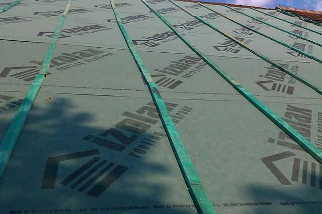 Membrana dachowa przymocowana kontrłatami