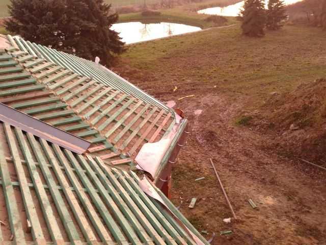 odeskowany , załacony dach ogrodu zimowego w Pleszewie