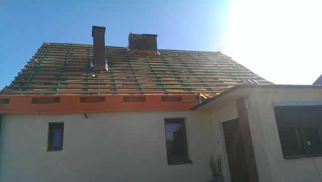 mebrana dachowa wraz z łatami i kontrłatami
