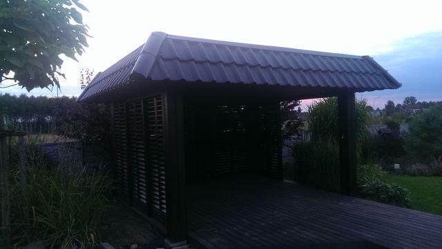 Dach na altanie ogrodowej