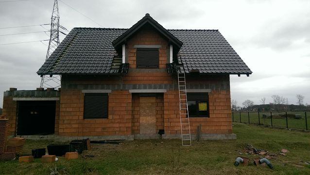 Pokrycie dachowe czarne - przód