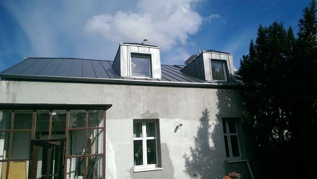 Blacha rąbek na dachu